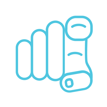 icon of hand with index finger pointing out
