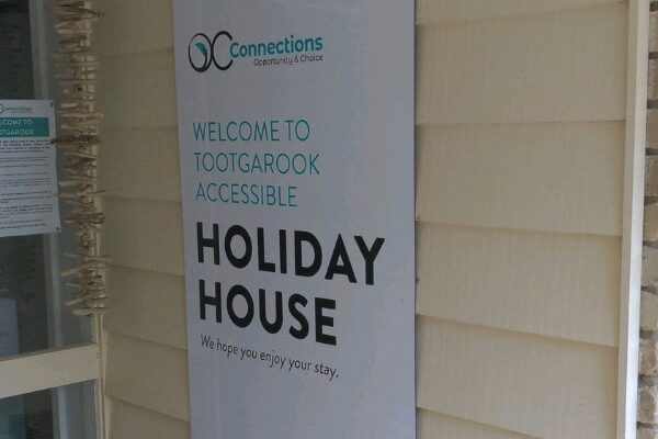 Tootgarook Holiday house front sign on porch